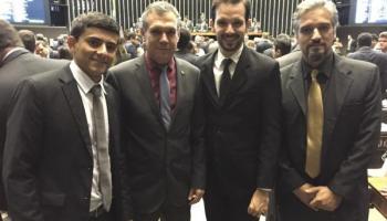 Hernandes César, Deputado Zé Silva, Rodrigo Zara e Tulio Moreira